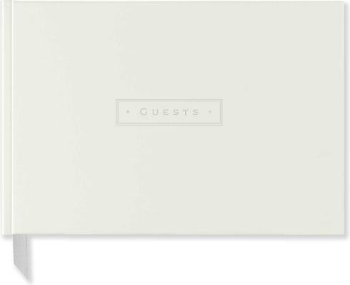 White Leather Guest Book By Peter Pauper Press (COR)